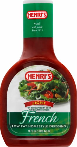 Henri's Light French Low Fat Homestyle Dressing Perspective: front