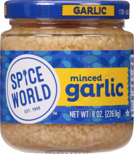 Spice World Minced Garlic Perspective: front