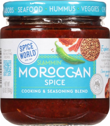 Spice World Slammin' Moroccan Spice Seasoning Blend Perspective: front