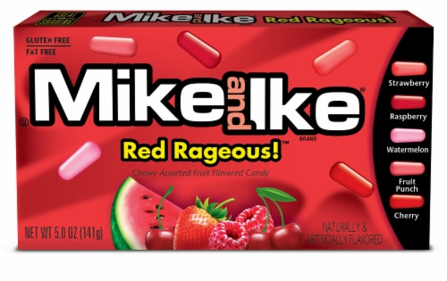 Mike and Ike Red Rageous Chewy Candy Perspective: front