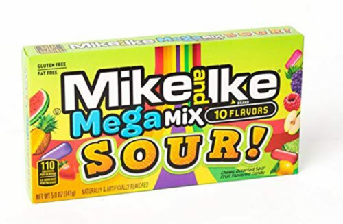 Mike & Ike Mega Mix Sours 5 oz Pack of 12 Perspective: front