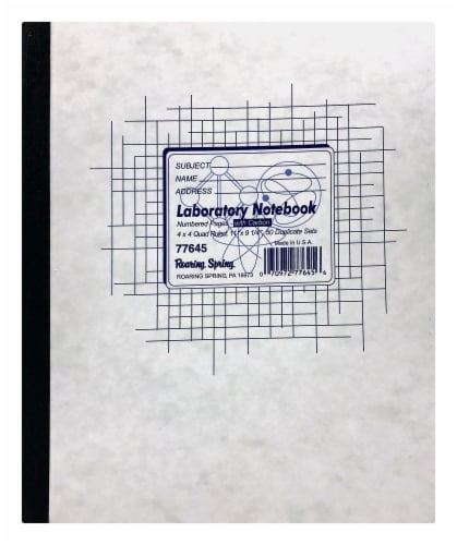 Roaring Spring Paper Products Laboratory Notebook Perspective: front