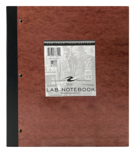 Roaring Springs Paper Products Quad Ruled Lab Notebook - Brown Perspective: front
