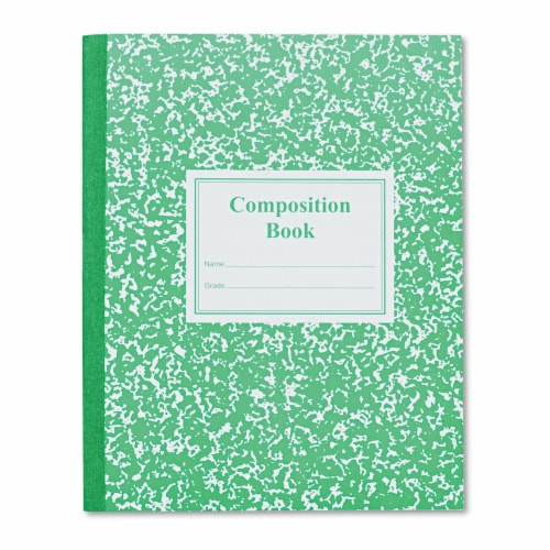 Roaring Springs 77920 Grade School Ruled Composition Book  9-3/4x7-3/4  WE/GN  50 Pages Perspective: front