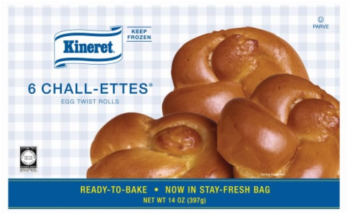 Kineret Ready-To-Bake Chall-Ettes Perspective: front