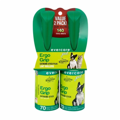 Evercare Ergo Grip Extreme Stick Lint Roller – Green Perspective: front