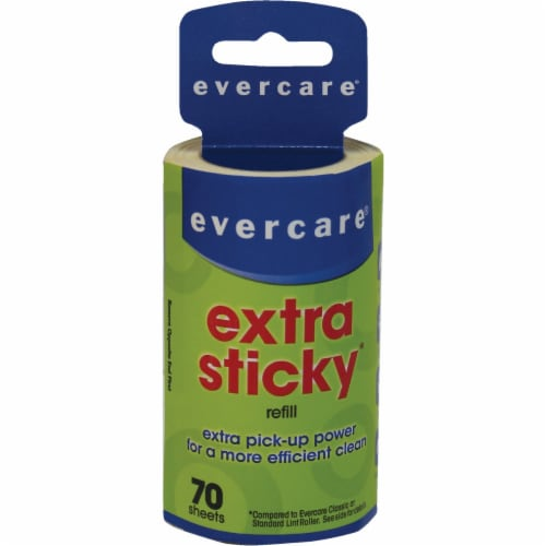 Evercare  Paper  Lint Roller  6.5 in. W x 4 in. L - Case Of: 6; Each Pack Qty: 1; Perspective: front