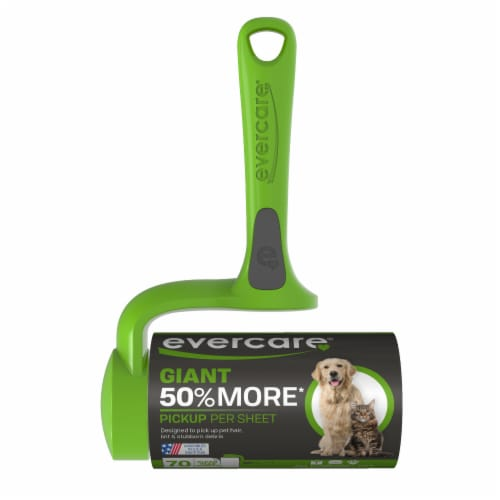 Evercare Pet 42.8 Ft. x 4.6 In. Giant Roll Pet Hair Remover with T-Handle Roller Perspective: front