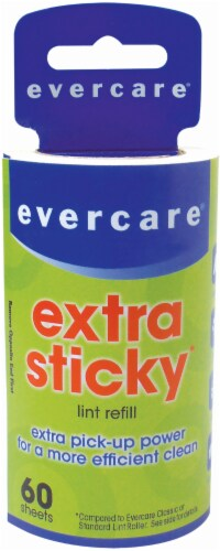 Evercare Extra-Sticky Lint Roller Refill Perspective: front