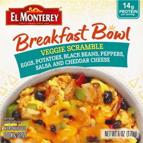 El Monterey Veggie Scramble Breakfast Blend Frozen Meal Perspective: front