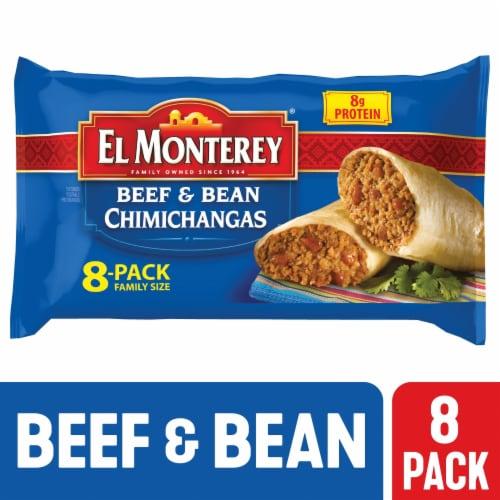 El Monterey Beef & Bean Chimichangas Perspective: front