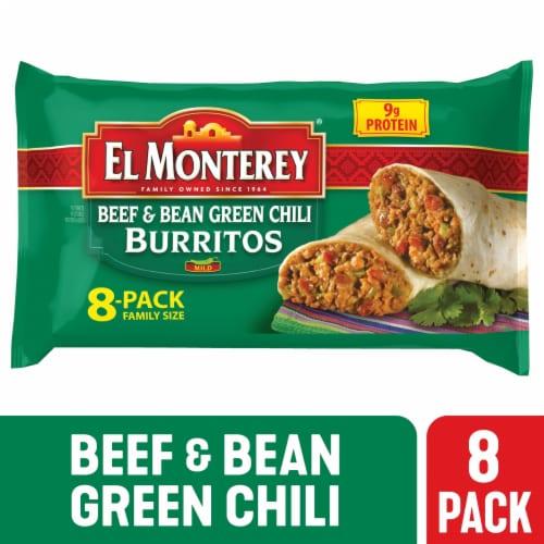 El Monterey Beef & Bean Green Chili Burritos Perspective: front