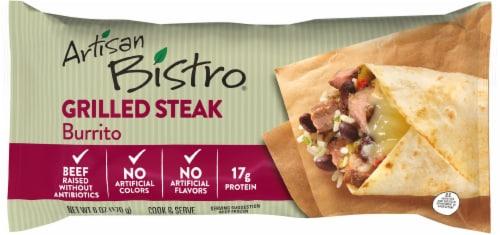Artisan Bistro Grilled Steak Burrito Perspective: front