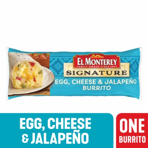 El Monterey Signature Egg Cheese & Jalapeno Burrito Perspective: front