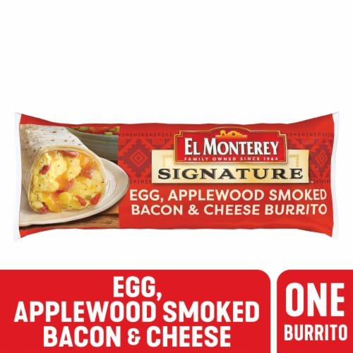 El Monterey Signature Egg Applewood Smoked Bacon & Cheese Burrito Perspective: front