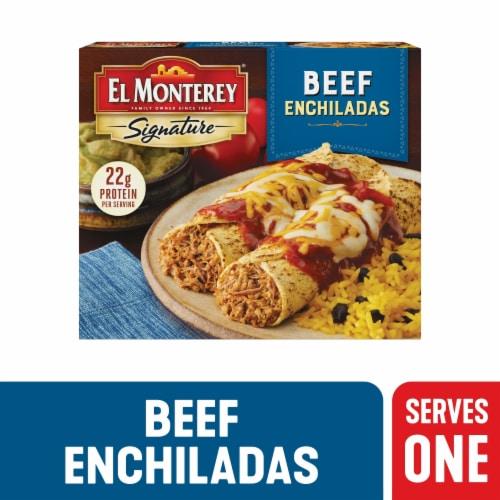 El Monterey Signature Entree Beef Enchiladas Perspective: front