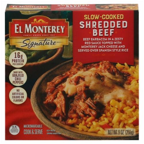 El Monterey Signature Beef Barbacoa Bowl Frozen Meal Perspective: front