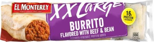El Monterey XX Large! Beef & Bean Burrito Perspective: front