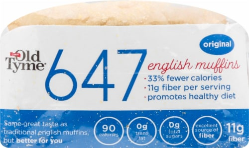 Old Tyme 647 Original English Muffins 6 Count Perspective: front