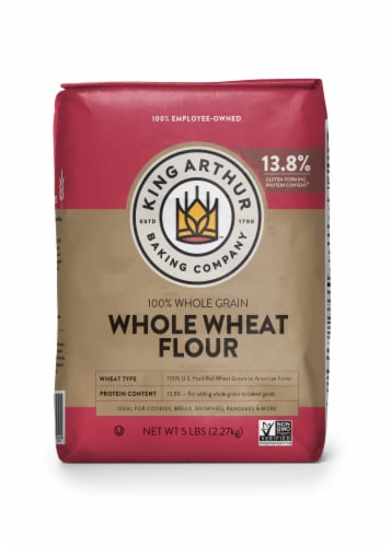 King Arthur Baking Company Whole Wheat Flour Perspective: front