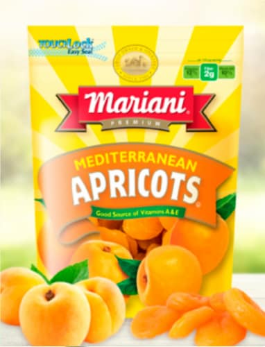 Mariani Mediterranean Dried Apricots Perspective: front