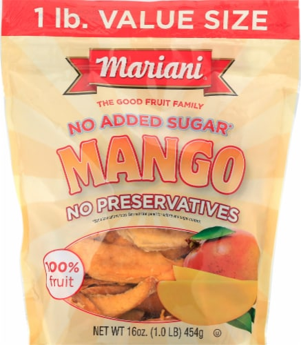 Mariani No Added Sugar Dried Mango Perspective: front