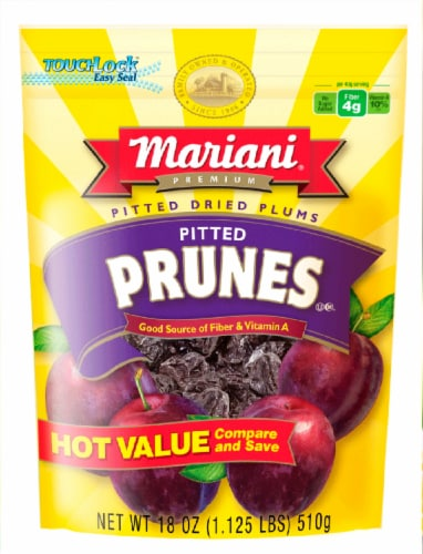 Mariani Pitted Dried Prunes Perspective: front