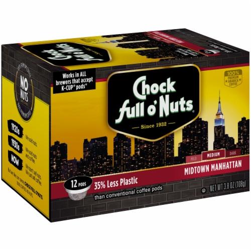 Chock full o'Nuts Midtown Manhattan Medium Roast Single-Serve Pods Perspective: front