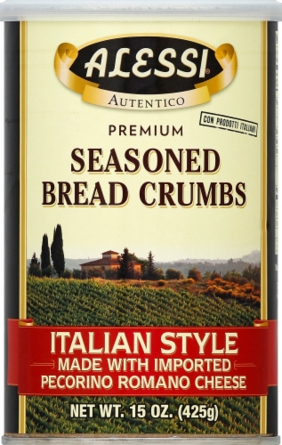 Alessi Italian Style Seasoned Bread Crumbs Perspective: front