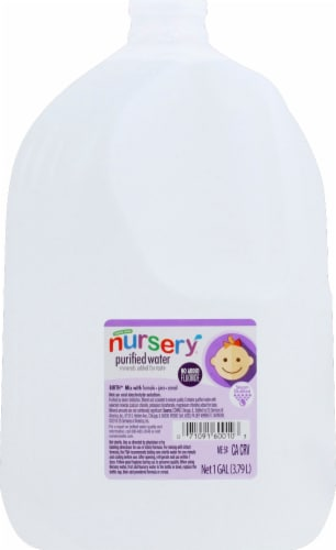 King Soopers Nursery Purified Water No Flouride Added 128