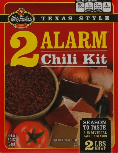 Wick Fowler's Texas Style 2 Alarm Chili Kit Perspective: front