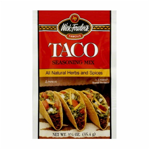 Wick Fowler's Taco Seasoning Mix Perspective: front