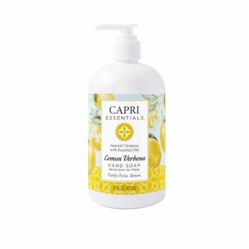 Capri Essentials Lemon Verbena Hand Soap Perspective: front