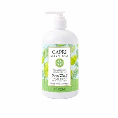 Capri Essentials Sweet Basil Hand Soap Perspective: front