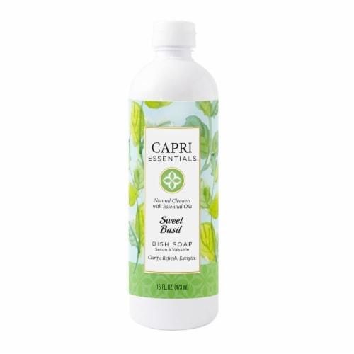 Capri Essentials Sweet Basil Dish Soap Perspective: front