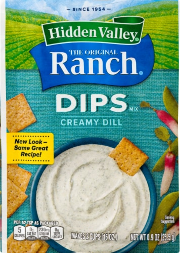 Hidden Valley Dips Creamy Dill Ranch Mix Perspective: front