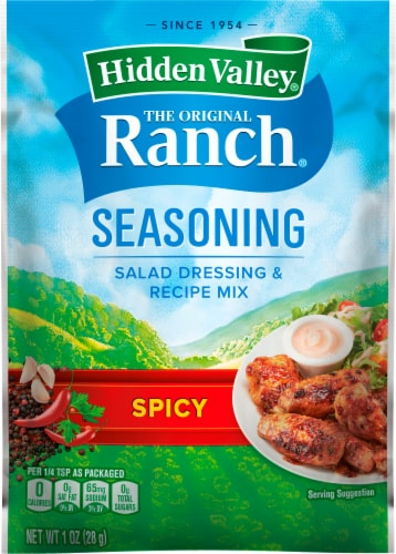 Hidden Valley Spicy Ranch Salad Dressing & Seasoning Mix Perspective: front