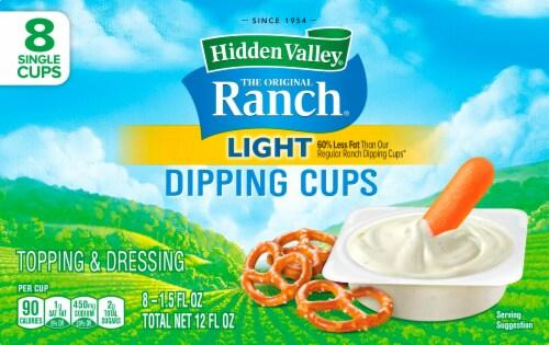 Hidden Valley Original Light Ranch Dip Cups Perspective: front