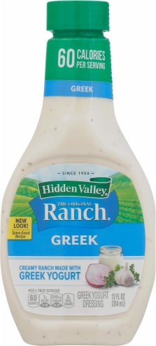 Hidden Valley Ranch Gluten Free Greek Yogurt Dressing Perspective: front