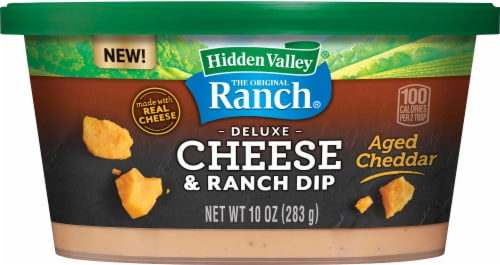 Hidden Valley Deluxe Aged Cheddar Cheese & Ranch Dip Perspective: front