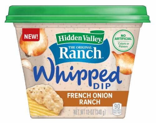 Hidden Valley French Onion Ranch Whipped Dip Perspective: front