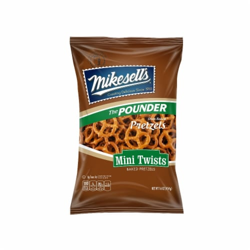 Mikesell's Mini Twist Pretzels Perspective: front