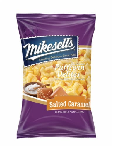 Mikesells Salted Caramel Puffcorn Delite Perspective: front