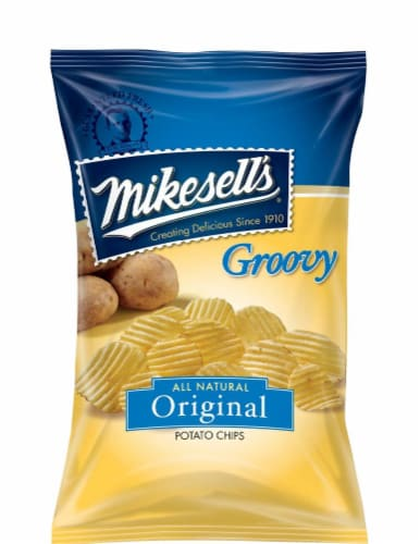 Mikesell's Groovy Original All Natural Potato Chips Perspective: front