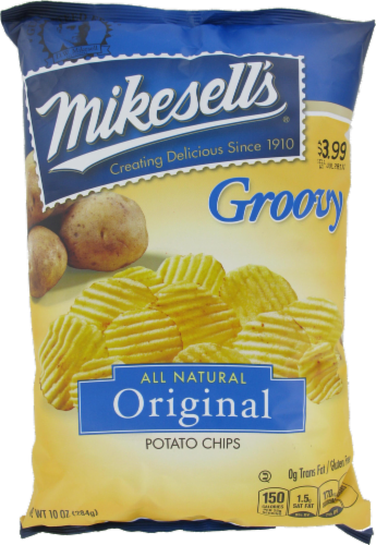 Mikesell's Groovy Original Potato Chips Perspective: front