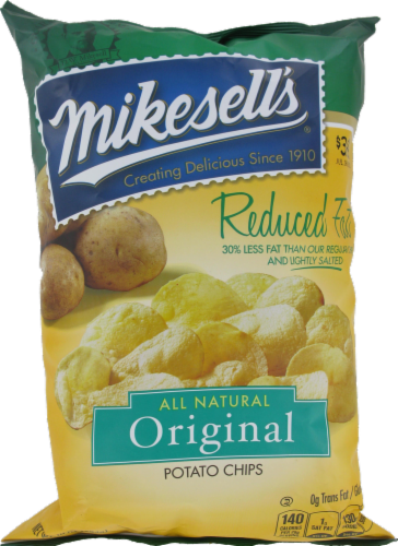 Mike-Sells Reduced Fat Potato Chips Perspective: front
