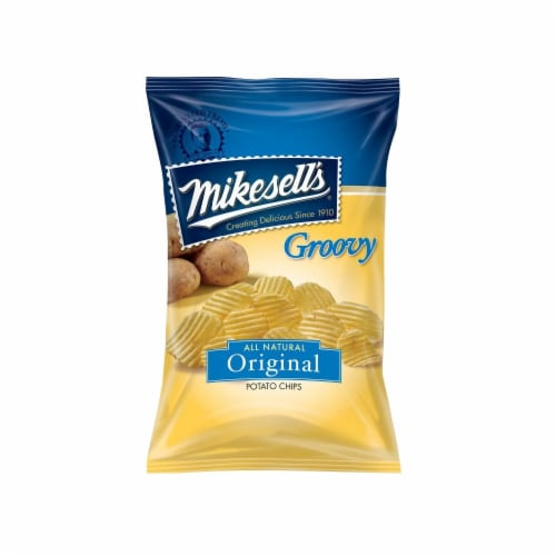 Mikesell's Original Groovy Potato Chips Perspective: front