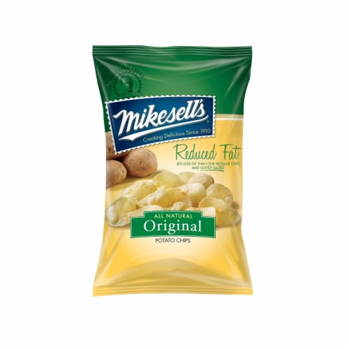 Mikesell's Reduced Fat Original Potato Chips Perspective: front