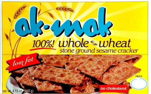ak-mak 100% Whole Wheat Sesame Cracker Perspective: front