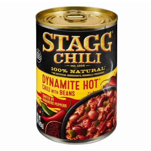 Stagg Chili Dynamite Hot Chili with Beans & Habanero Peppers Perspective: front